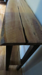 Hand crafted live edge cherry console table