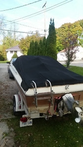 1984-18 ft  Doral Bow Rider with trailer