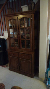 Cabinet , table and chairs,