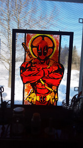 Faux Stained Glass - Custom Comic Art by Robert Allen Studio