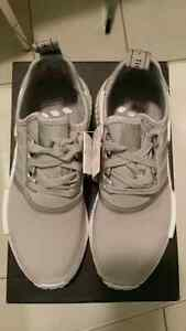 Adidas NMD R1 Silver Size 7.5 Women Ultra Boost White Black Grey