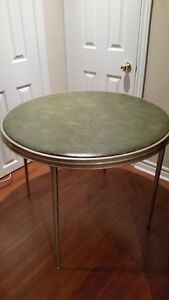 Vintage Round Folding Card Table