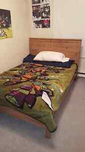 Free double bed.