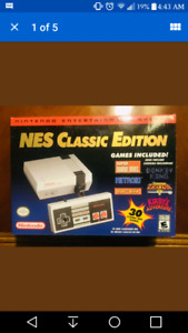 NES classic with 2 controllers