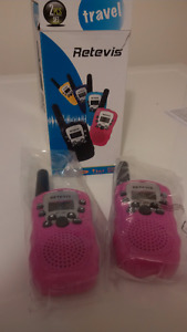 2-Pack Pink Kids Walkie Talkies With Flashlight, NEW!