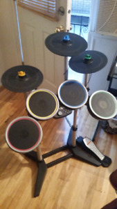 Xbox 360 Rock Band 3 Drum set with pedal and symbals