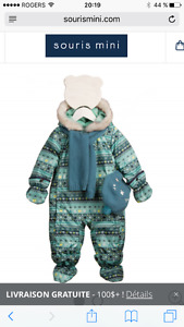 ***NEW*** Souris Mini Snowsuit Boy 9 months
