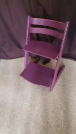 Stokke Tripp Trapp child high chair purple