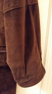 BEAUTIFUL CHOCOLATE BROWN SUEDE CAR COAT Cambridge Kitchener Area image 7