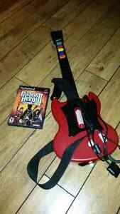 Guitar hero legends of rock with guitar for Ps2