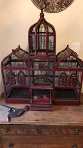 Handcrafted Wooden Bird Cage
