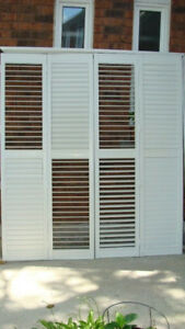 Priced for quick sale:  California Shutters for 6' Patio Door