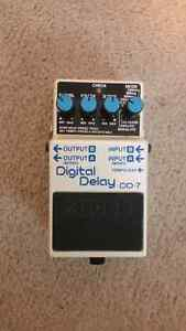 Like new Boss digital delay and super overdrive pedals