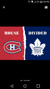 MONTREAL/TORONTO HOUSE DIVIDED 2 BY 3 BANNER OR FLAG