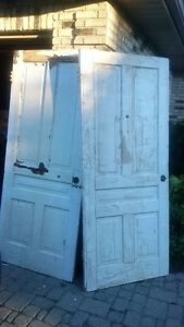 "Two OLD FARMHOUSE DOORS for sale, 34x81"",$15/for each"
