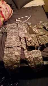 camo uniform with vest sz sm/Med  for airsoft or paintball. Cambridge Kitchener Area image 1