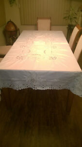Handmade Stiched Table Cloth with 12 Napkins Kawartha Lakes Peterborough Area image 4