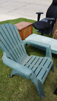 Muskoka Chair and matching table + more FREE STUFF