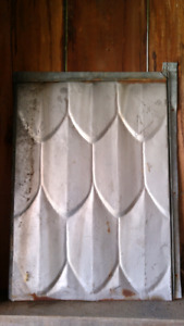 Antique Tin Roofing - Dragon Scale 22x16 Fish Scale