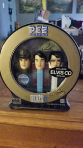 Ltd. Edition Pez Candy Collectible Elvis Presley Tin With Cd Gif