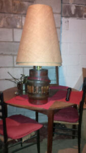 Wood Keg lamps