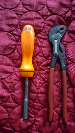 Snap on screwdriver and Mac tool grips plus some euro tools spanners