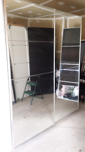 Ikea pax wardrobe with mirror doors