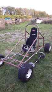 GO KART FRAME AND WHEELS