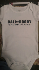 Call of Duty parody Call of Doody onesie 3-6 months