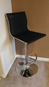 Brand New - Modern Black/Stainless Steel Bar Stool
