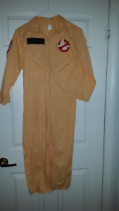 Ghostbusters sz 8-10 Jumpsuit and Adult Inflatable Slimer Costum