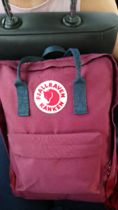 Fjallraven red and navy adult size backpack