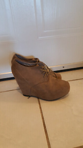 Brand new Taupe booties size 9