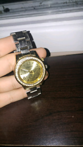 Mens gold with sliver band watch