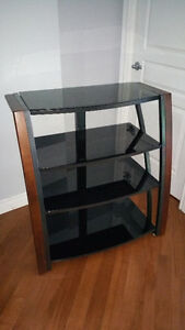 "Whalen / VAS 34"" TV Audio Tower Console Stand Meuble"