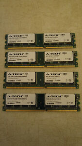 4 x 1GB Dell Optiplex Ram Memory