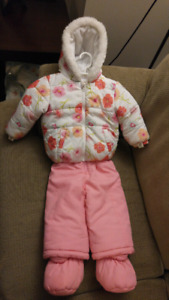 Girls snowsuit size 12-18 months