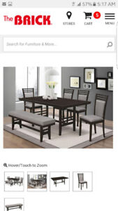 Gorgeous brand new dining room set for sale!