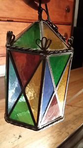 ANTIQUE Lampe Tiffany glass lamp HAND MADE