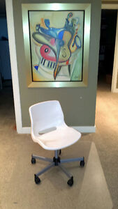 Chair - swivel, with locking casters, white, IKEA Snille