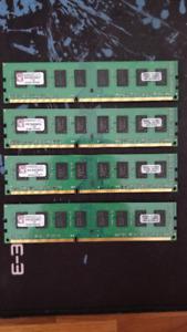 Kingston KVR 8 go (2go x 4) 1333MHz DDR3 DIMM Desktop Memory