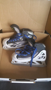 Reebok junior goalie skates size 4