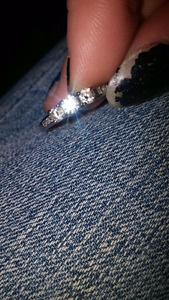 Silver 14kt ring