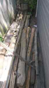 Cedar Rail fence and posts for Gardens