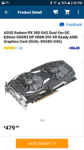 2x Rx 580 8gig msi and asus video card