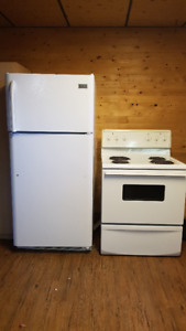 Frigidaire Fridge and Electric Stove