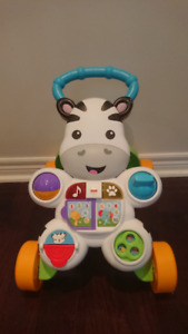 Fisher-Price Learn with Me Zebra Walker Playset - Like New