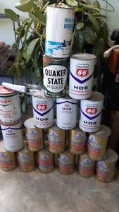 17 full oil cans