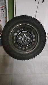 Firestone Winterforce Snow Tires on Rims 205 60 R15 Cambridge Kitchener Area image 1