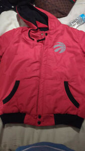 Licensed red and black and white raptors reversible jacket